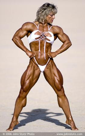 woman body builder legs
