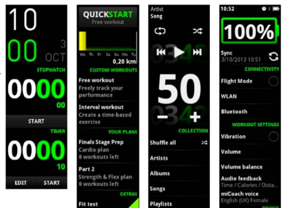 adidas micoach interface